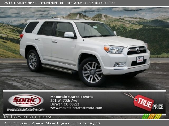Blizzard White Pearl 2013 Toyota 4runner Limited 4x4 Black Leather Interior