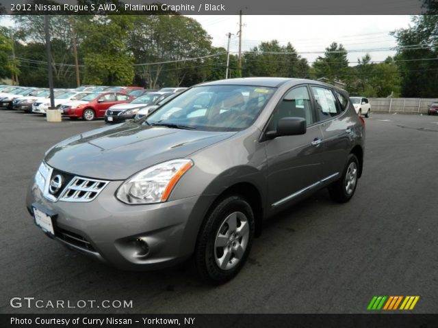 Platinum Graphite 2012 Nissan Rogue S Awd Black Interior Vehicle Archive