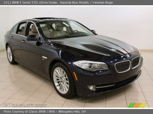 imperial blue metallic 2011 bmw 5 series 535i xdrive sedan venetian beige interior. Black Bedroom Furniture Sets. Home Design Ideas