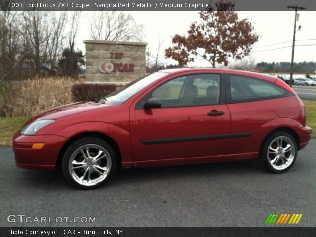 sangria red metallic 2003 ford focus zx3 coupe medium. Black Bedroom Furniture Sets. Home Design Ideas