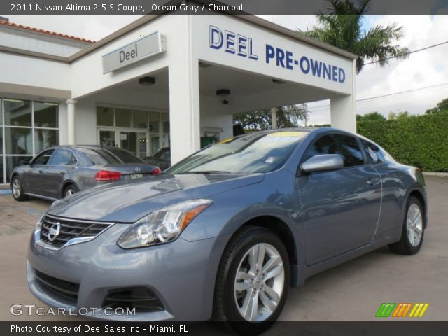 ocean gray 2011 nissan altima 2 5 s coupe charcoal. Black Bedroom Furniture Sets. Home Design Ideas