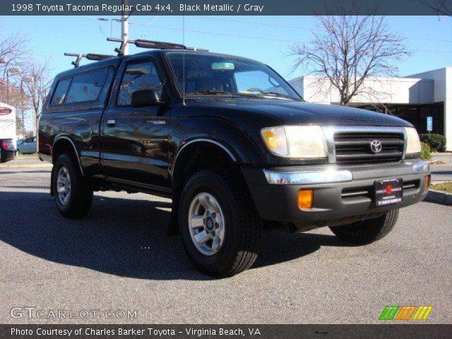 black metallic 1998 toyota tacoma regular cab 4x4 gray interior vehicle. Black Bedroom Furniture Sets. Home Design Ideas
