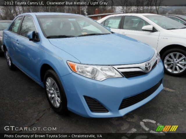 clearwater blue metallic 2012 toyota camry le light gray interior vehicle. Black Bedroom Furniture Sets. Home Design Ideas