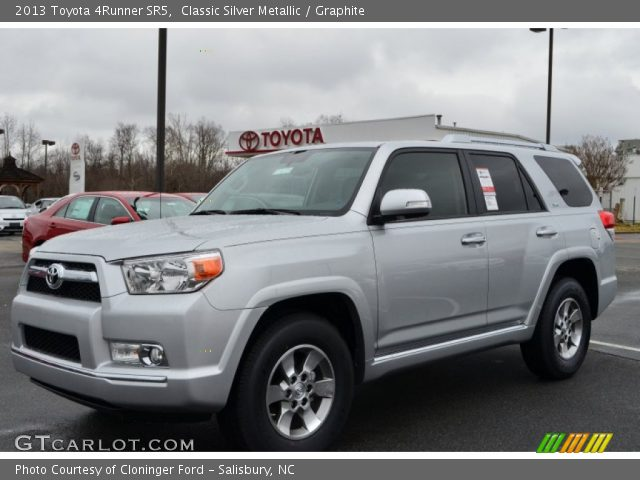 classic silver metallic 2013 toyota 4runner sr5 graphite interior vehicle. Black Bedroom Furniture Sets. Home Design Ideas