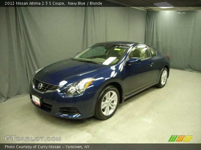 navy blue 2012 nissan altima 2 5 s coupe blonde interior vehicle archive. Black Bedroom Furniture Sets. Home Design Ideas