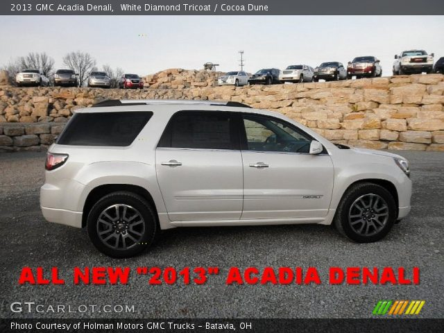 2013 GMC Acadia Denali in White Diamond Tricoat