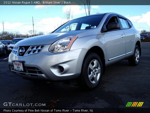 Brilliant silver 2012 nissan rogue s awd black - 2012 nissan rogue exterior colors ...