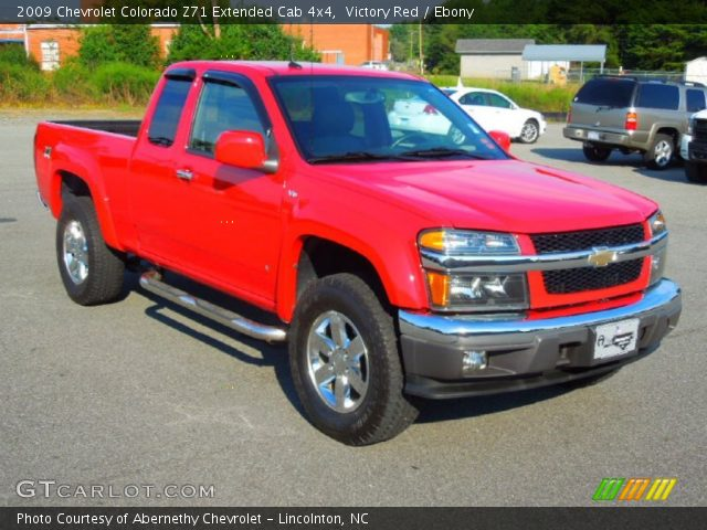 victory red 2009 chevrolet colorado z71 extended cab 4x4 ebony interior. Black Bedroom Furniture Sets. Home Design Ideas