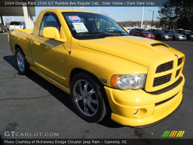 solar yellow 2004 dodge ram 1500 slt rumble bee regular. Black Bedroom Furniture Sets. Home Design Ideas