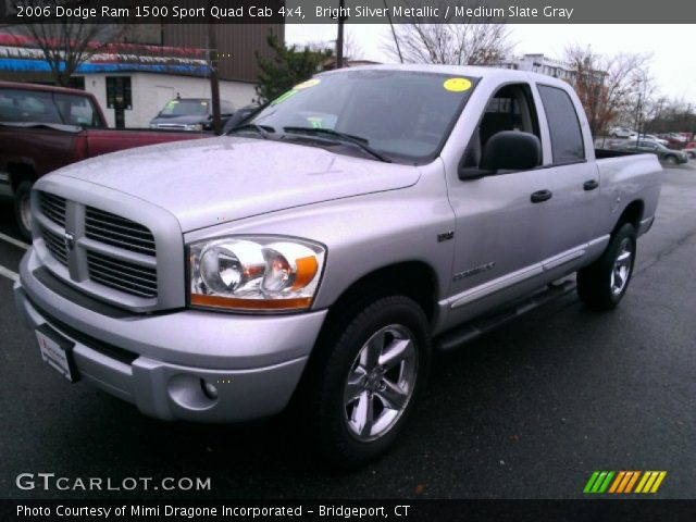 bright silver metallic 2006 dodge ram 1500 sport quad cab 4x4 medium slate gray interior. Black Bedroom Furniture Sets. Home Design Ideas