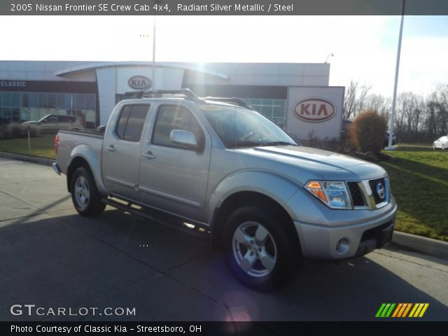 Radiant Silver Metallic 2005 Nissan Frontier Se Crew Cab