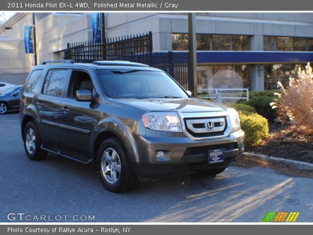 Polished Metal Metallic 2011 Honda Pilot Ex L 4wd Gray