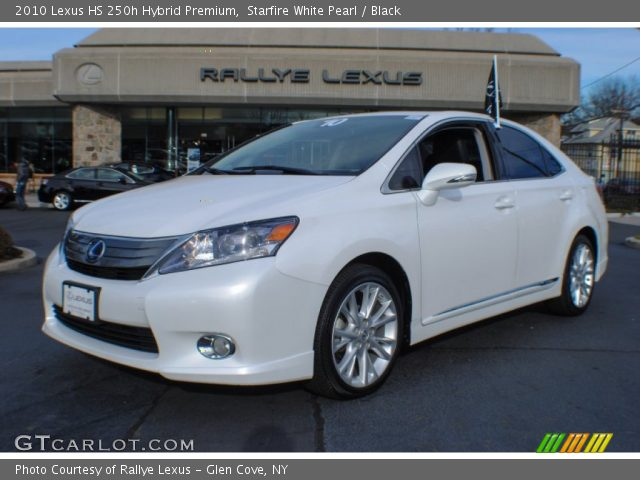 starfire white pearl 2010 lexus hs 250h hybrid premium black interior. Black Bedroom Furniture Sets. Home Design Ideas