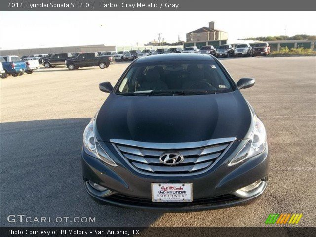 harbor gray metallic 2012 hyundai sonata se 2 0t gray interior vehicle. Black Bedroom Furniture Sets. Home Design Ideas