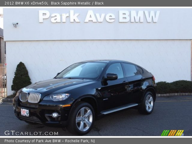 black sapphire metallic 2012 bmw x6 xdrive50i black. Black Bedroom Furniture Sets. Home Design Ideas