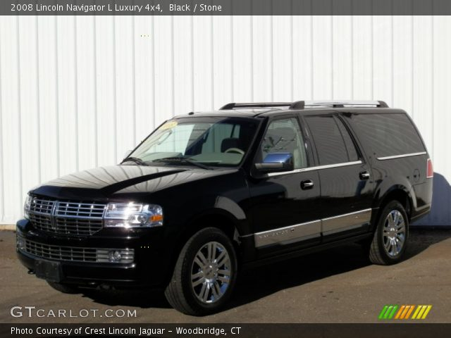 Black 2008 Lincoln Navigator L Luxury 4x4 Stone Interior Vehicle Archive