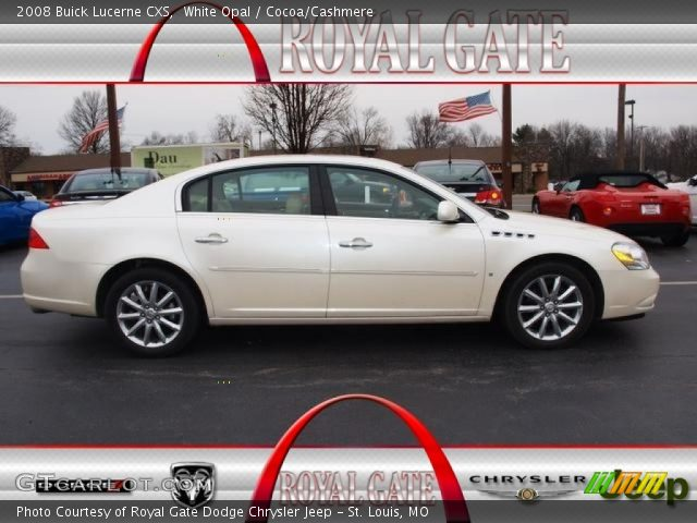 White Opal - 2008 Buick Lucerne CXS - Cocoa/Cashmere Interior ...