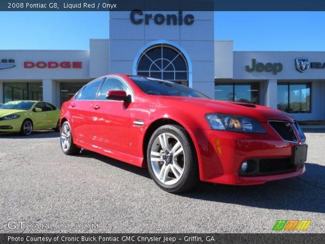 Liquid Red 2008 Pontiac G8 Onyx Interior Gtcarlot Com Vehicle Archive 75073987