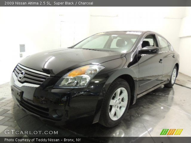 super black 2009 nissan altima 2 5 sl charcoal interior vehicle archive. Black Bedroom Furniture Sets. Home Design Ideas