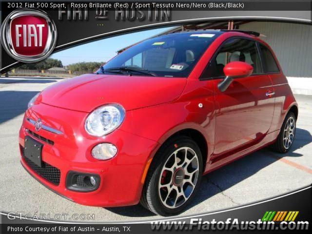 2012 Fiat 500 Sport in Rosso Brillante (Red)