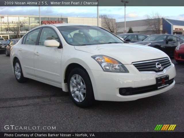 winter frost pearl 2009 nissan altima 2 5 s charcoal interior vehicle. Black Bedroom Furniture Sets. Home Design Ideas