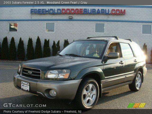 woodland green pearl 2003 subaru forester 2 5 xs gray interior vehicle. Black Bedroom Furniture Sets. Home Design Ideas