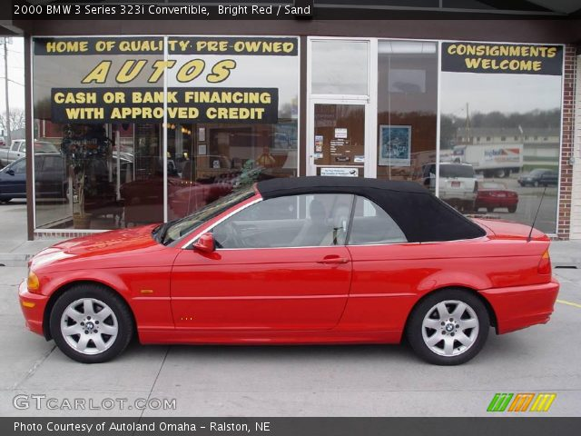 bright red 2000 bmw 3 series 323i convertible sand. Black Bedroom Furniture Sets. Home Design Ideas