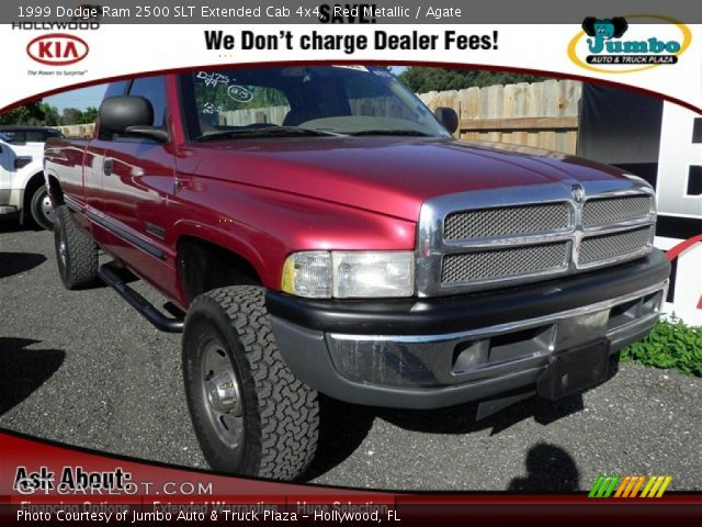 Red Metallic 1999 Dodge Ram 2500 Slt Extended Cab 4x4