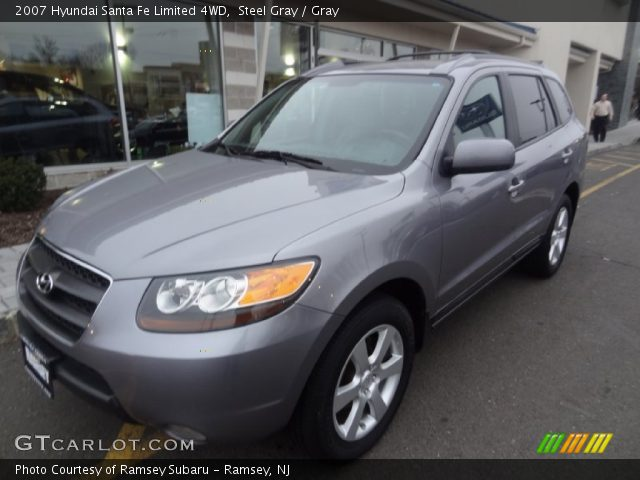 steel gray 2007 hyundai santa fe limited 4wd gray. Black Bedroom Furniture Sets. Home Design Ideas