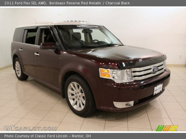 bordeaux reserve red metallic 2011 ford flex sel awd. Black Bedroom Furniture Sets. Home Design Ideas