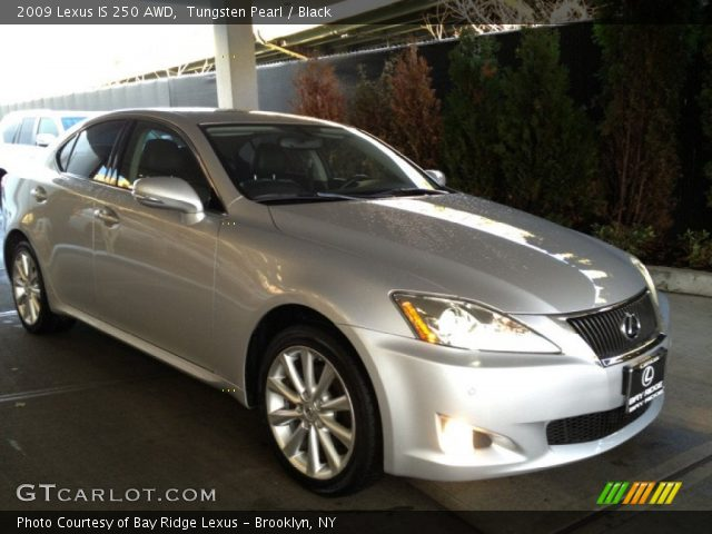 tungsten pearl 2009 lexus is 250 awd black interior vehicle archive 75168973. Black Bedroom Furniture Sets. Home Design Ideas