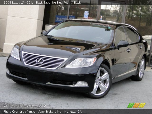black sapphire blue pearl 2008 lexus ls 460 l black. Black Bedroom Furniture Sets. Home Design Ideas