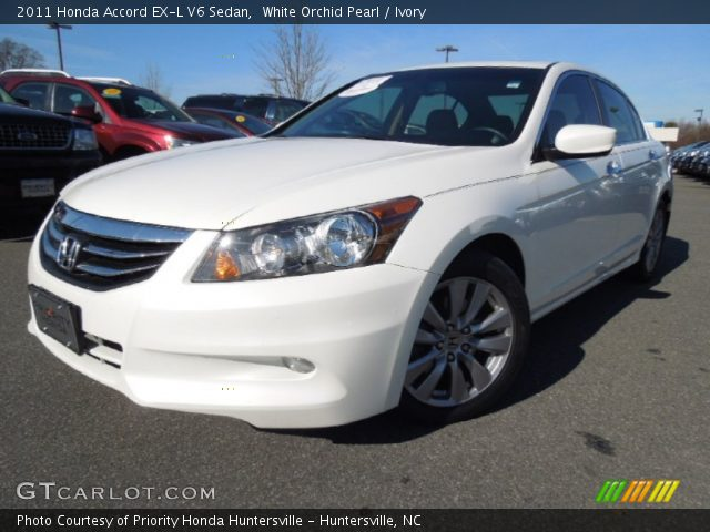 white orchid pearl 2011 honda accord ex l v6 sedan ivory interior vehicle. Black Bedroom Furniture Sets. Home Design Ideas