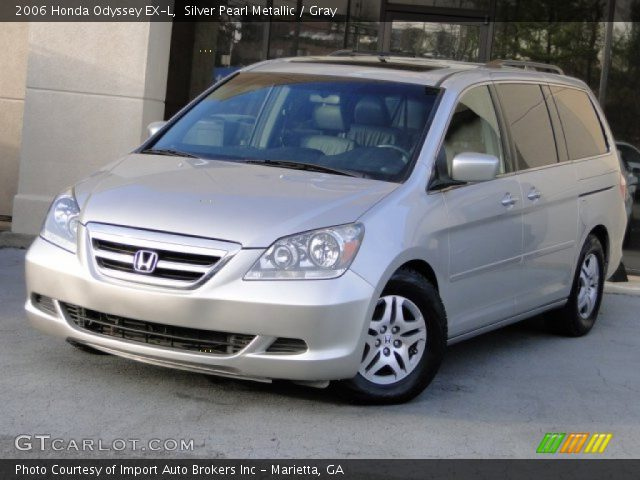 silver pearl metallic 2006 honda odyssey ex l gray. Black Bedroom Furniture Sets. Home Design Ideas