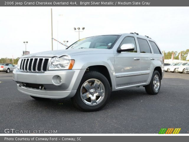 bright silver metallic 2006 jeep grand cherokee overland 4x4 medium slate gray interior. Black Bedroom Furniture Sets. Home Design Ideas