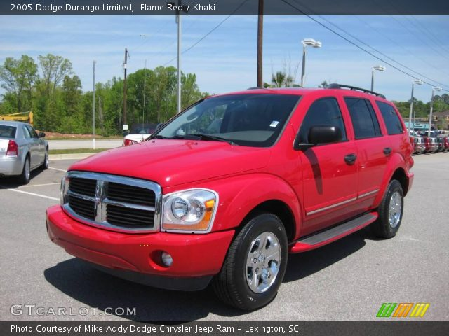 flame red 2005 dodge durango limited khaki interior. Black Bedroom Furniture Sets. Home Design Ideas