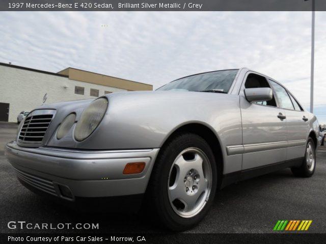 1997 Mercedes-Benz E 420 Sedan in Brilliant Silver Metallic