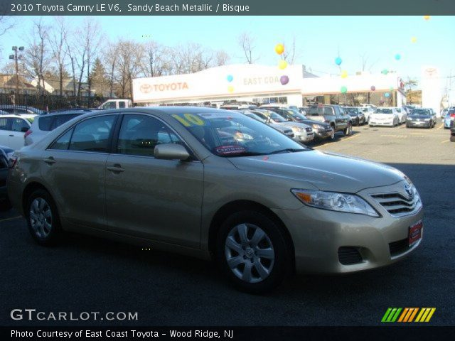 sandy beach metallic 2010 toyota camry le v6 bisque interior vehicle. Black Bedroom Furniture Sets. Home Design Ideas
