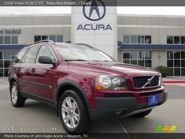 ruby red metallic 2006 volvo xc90 2 5t taupe interior vehicle archive 75288266. Black Bedroom Furniture Sets. Home Design Ideas