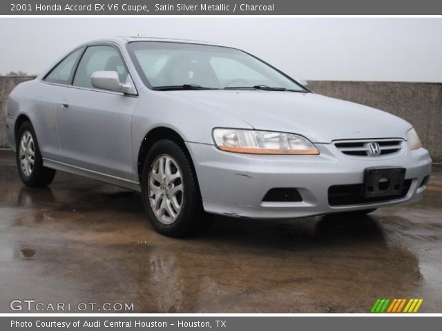 satin silver metallic 2001 honda accord ex v6 coupe charcoal interior. Black Bedroom Furniture Sets. Home Design Ideas
