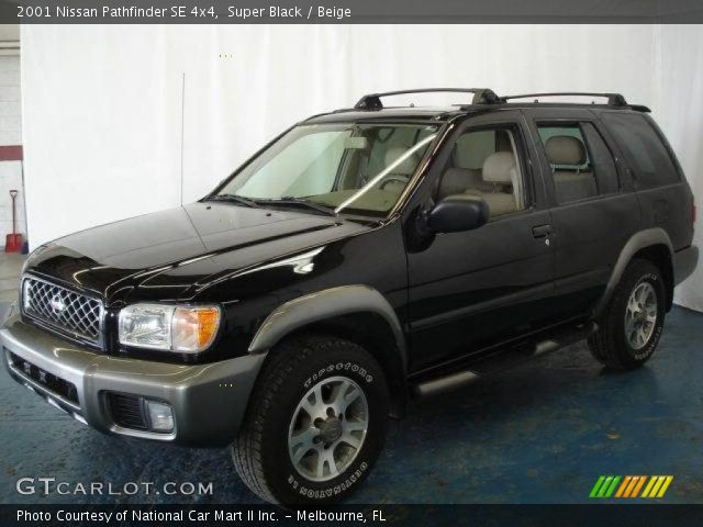 super black 2001 nissan pathfinder se 4x4 beige. Black Bedroom Furniture Sets. Home Design Ideas
