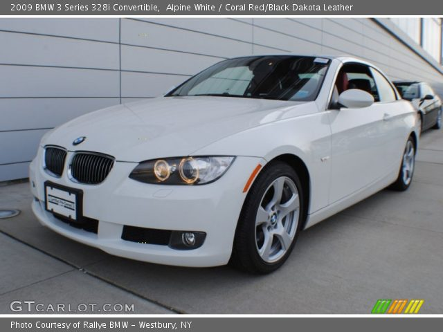 Alpine White 2009 Bmw 3 Series 328i Convertible Coral Red Black Dakota Leather Interior