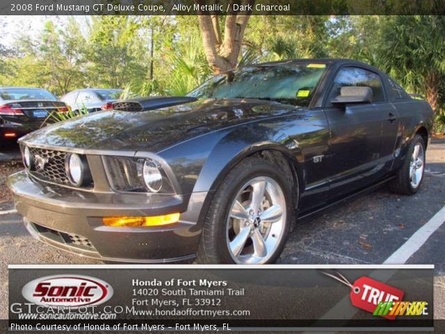 alloy metallic 2008 ford mustang gt deluxe coupe dark charcoal interior. Black Bedroom Furniture Sets. Home Design Ideas