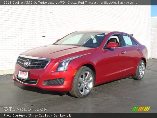 2013 Cadillac Ats 2 0 L Turbo >> Crystal Red Tintcoat 2013 Cadillac Ats 2 0l Turbo Luxury Awd Jet