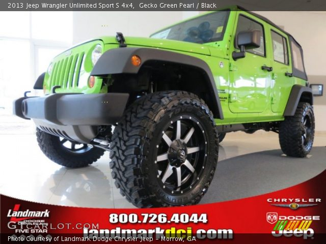 gecko green pearl 2013 jeep wrangler unlimited sport s 4x4 black interior. Black Bedroom Furniture Sets. Home Design Ideas