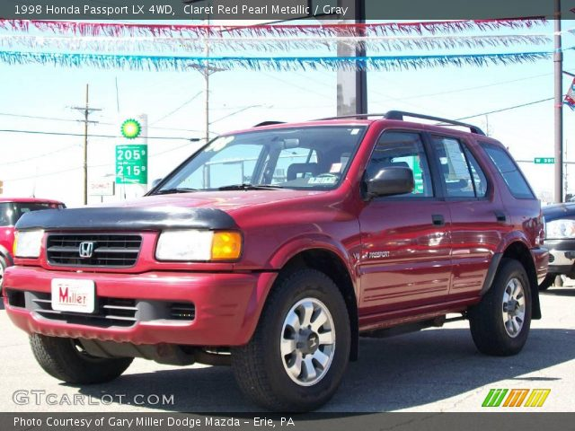 claret red pearl metallic 1998 honda passport lx 4wd. Black Bedroom Furniture Sets. Home Design Ideas