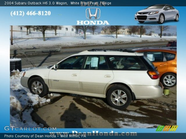 white frost pearl 2004 subaru outback h6 3 0 wagon. Black Bedroom Furniture Sets. Home Design Ideas
