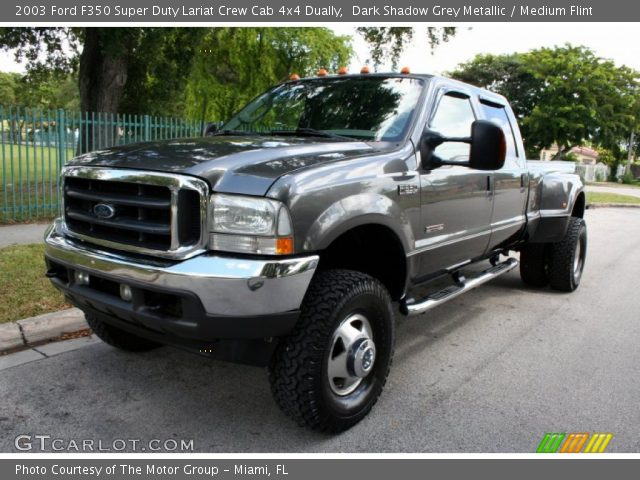 dark shadow grey metallic 2003 ford f350 super duty lariat crew cab 4x4 dually medium flint. Black Bedroom Furniture Sets. Home Design Ideas