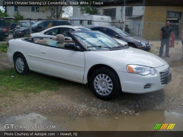 stone white 2004 chrysler sebring lx convertible taupe. Black Bedroom Furniture Sets. Home Design Ideas