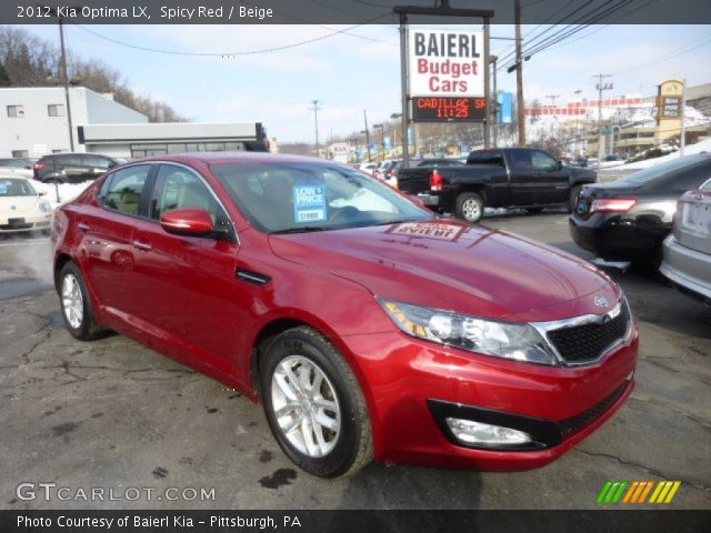 spicy red 2012 kia optima lx beige interior vehicle archive 75525139. Black Bedroom Furniture Sets. Home Design Ideas